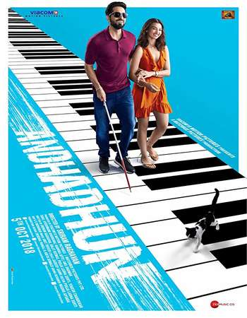 Andhadhun 2018 Hindi 600MB HDRip 720p ESubs HEVC