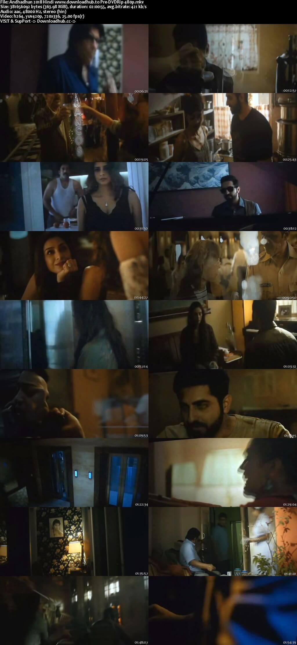 Andhadhun 2018 Hindi 350MB Pre-DVDRip 480p