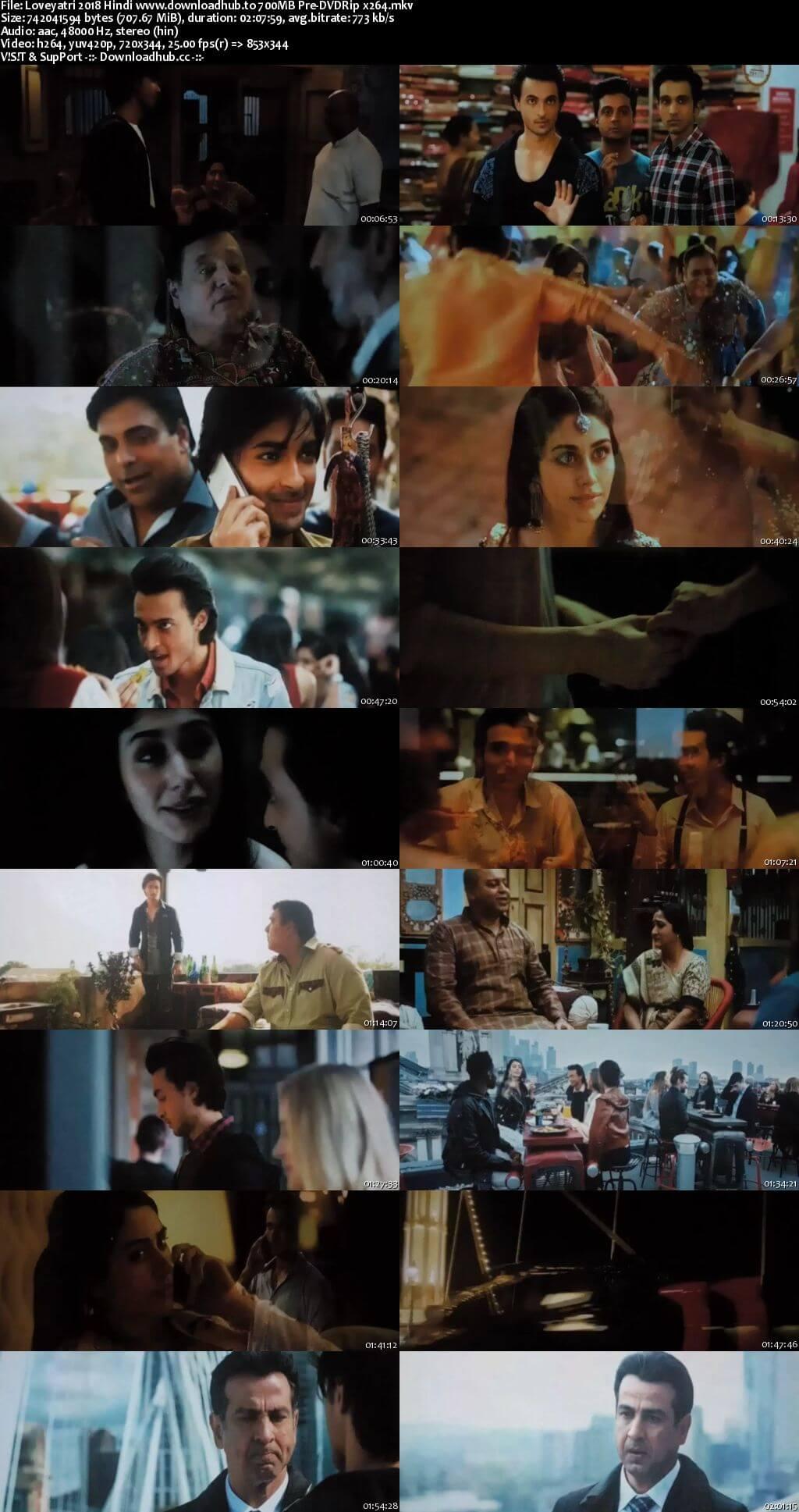 Loveyatri 2018 Hindi 700MB Pre-DVDRip x264