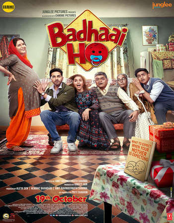 Badhaai Ho 2018 Hindi 550MB HDRip 720p HEVC