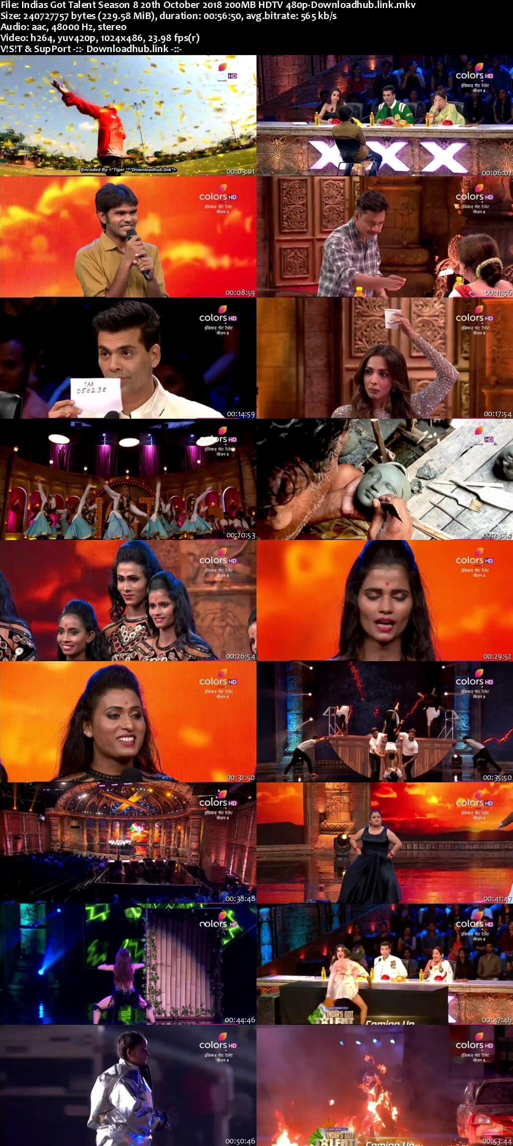 Indias Got Talent Season 8 20 October 2018 Episode 01 HDTV 480p