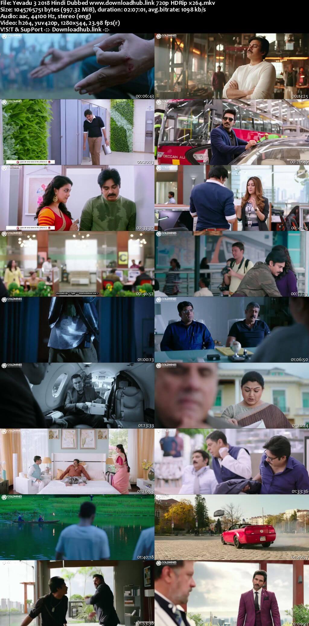 Yevadu 3 2018 Hindi Dubbed 720p HDRip x264