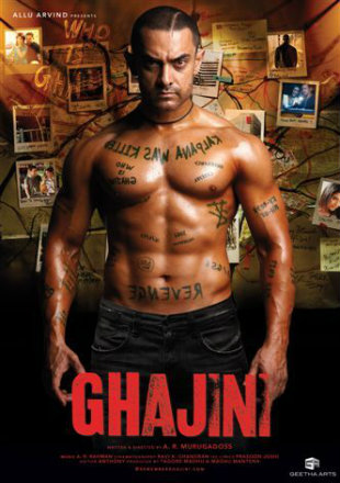 Ghajini 2008 Hindi 720p 1.3GB BluRay x264