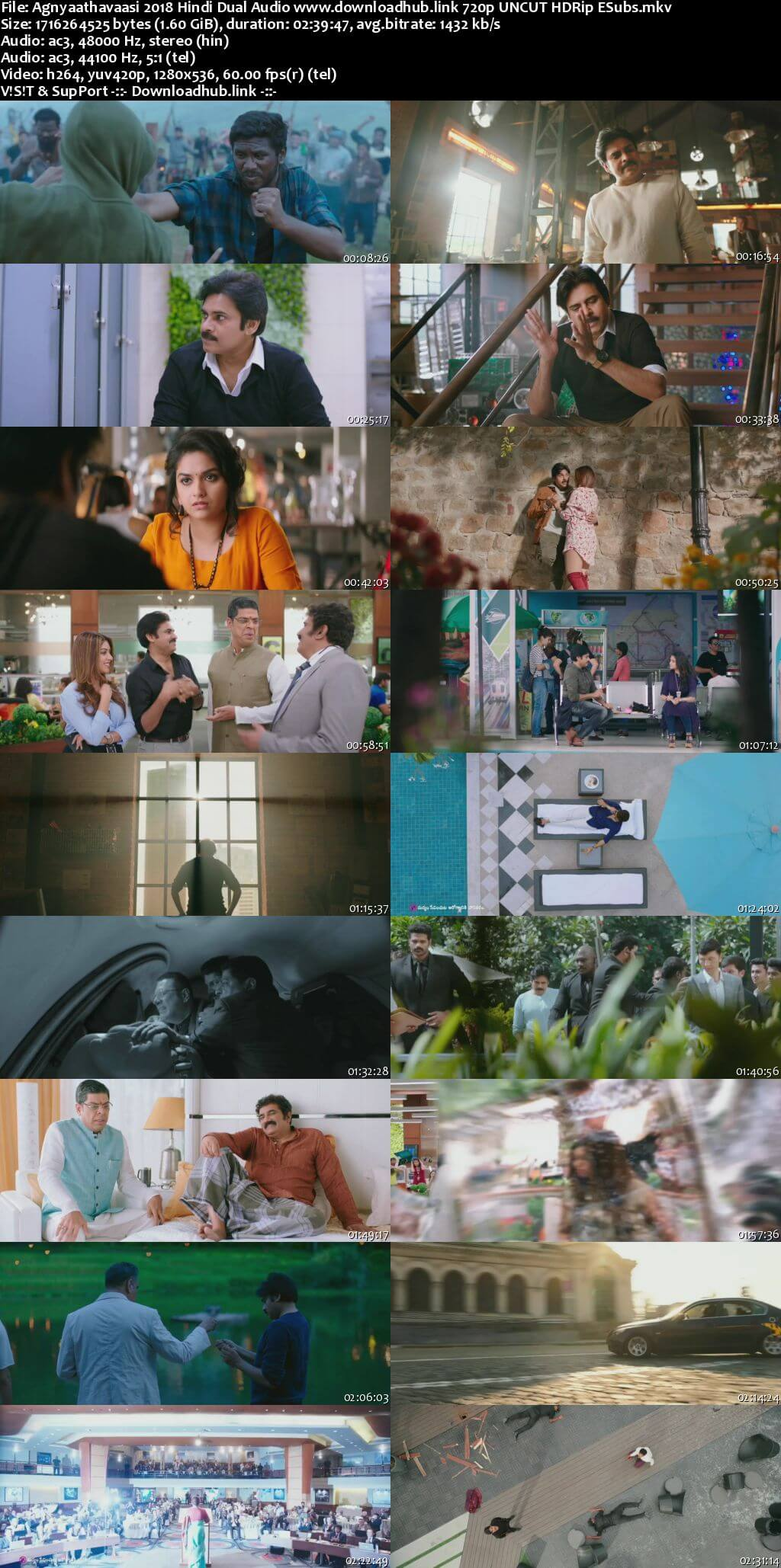 Agnyaathavaasi 2018 Hindi Dual Audio 720p UNCUT HDRip ESubs