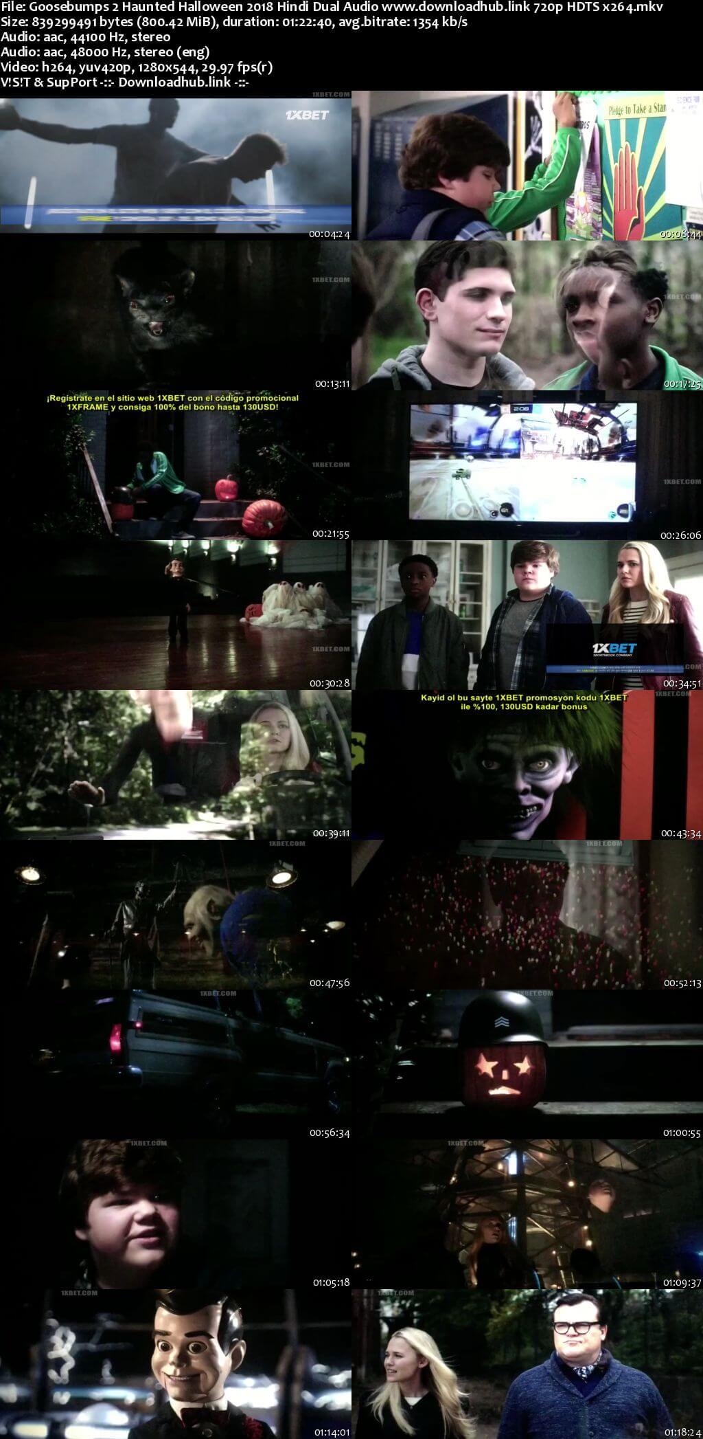 Goosebumps 2 Haunted Halloween 2018 Hindi Dual Audio 720p HDTS x264