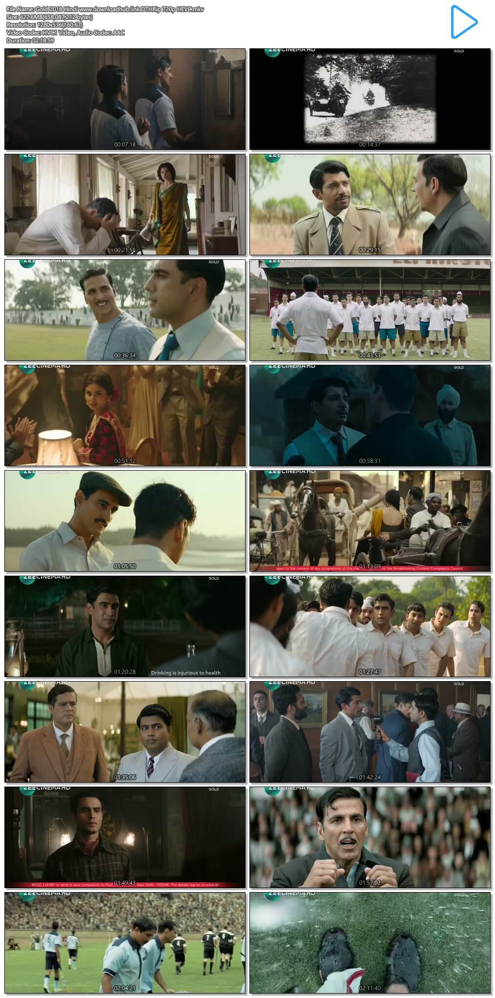 Gold 2018 Hindi 600MB DTHRip 720p HEVC