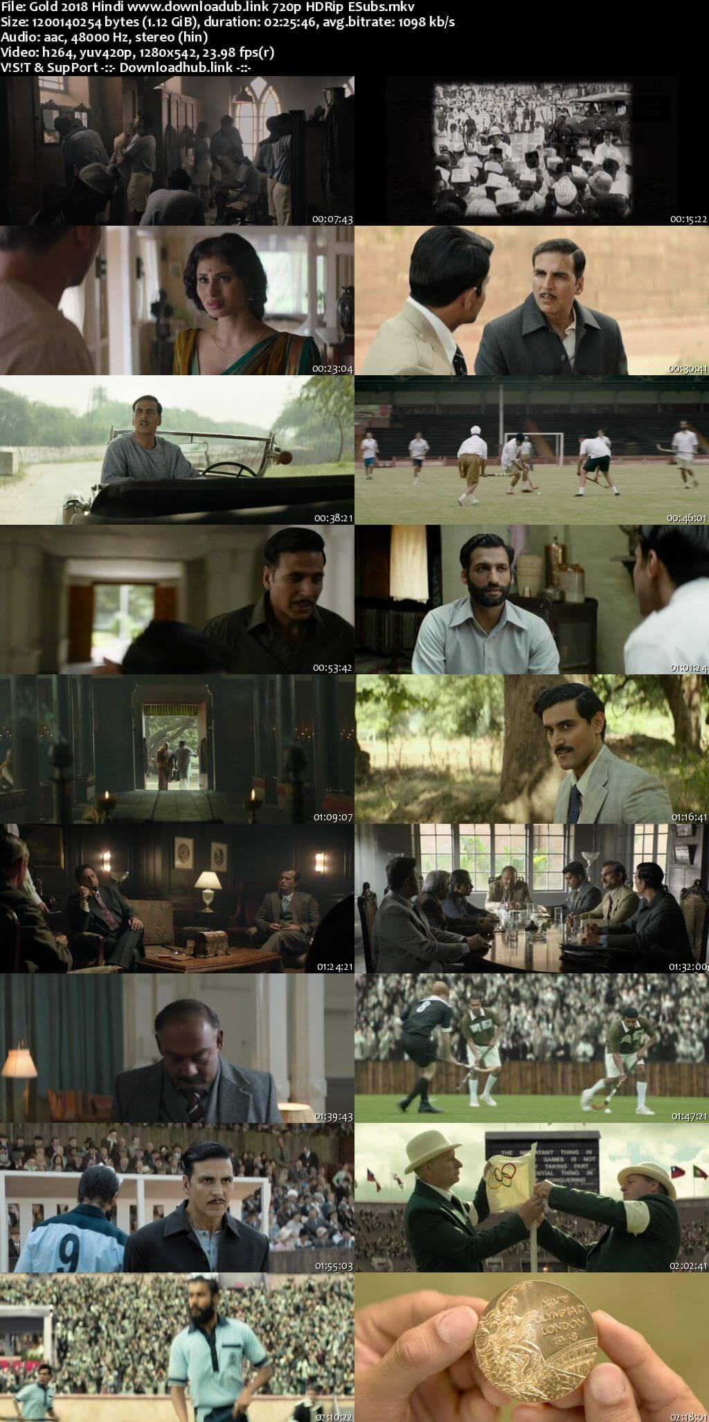 Gold 2018 Hindi 720p HDRip ESubs