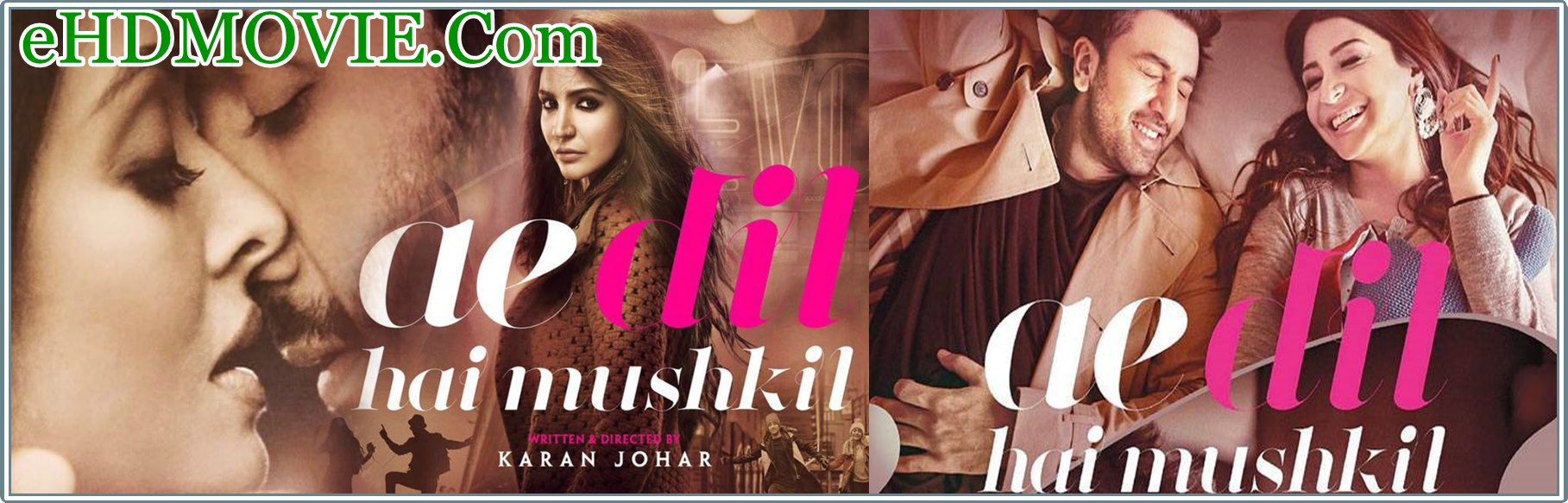 Ae Dil Hai Mushkil 2016 Full Movie Hindi 720p - 480p ORG BRRip 450MB - 1.3GB ESubs Free Download