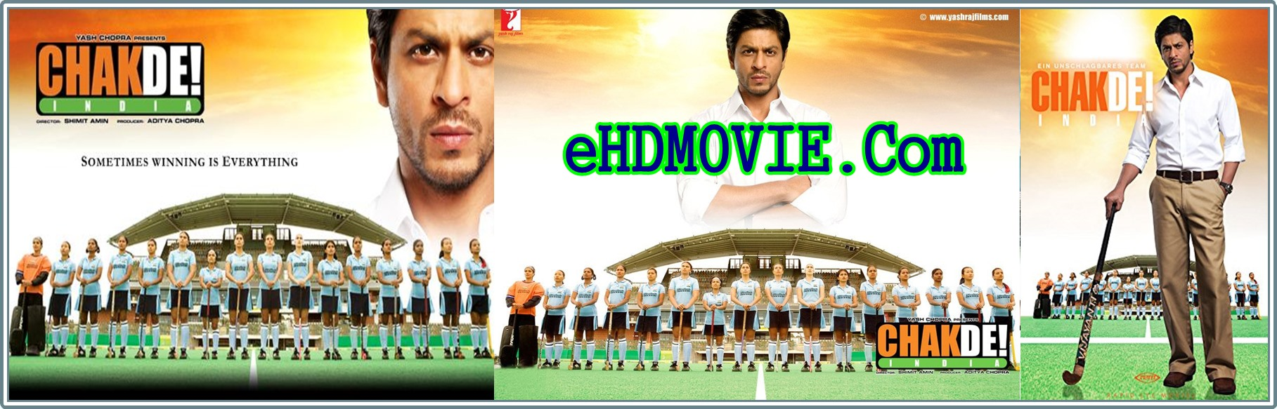Chak De India 2007 Full Movie Hindi 720p - 480p ORG BRRip 450MB - 1.6GB ESubs Free Download