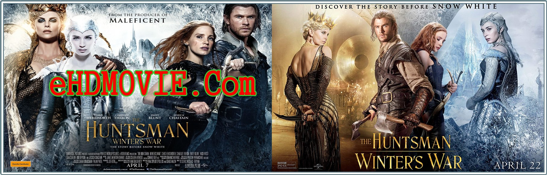 The Huntsman Winter's War 2016 Full Movie Dual Audio [Hindi – English] 720p - 480p ORG BRRip 400MB - 1.1GB ESubs Free Download