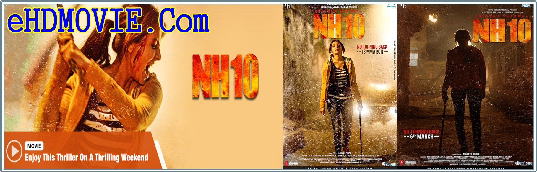NH10 2015 Full Movie Hindi 720p - 480p ORG BRRip 350MB - 950MB ESubs Free Download
