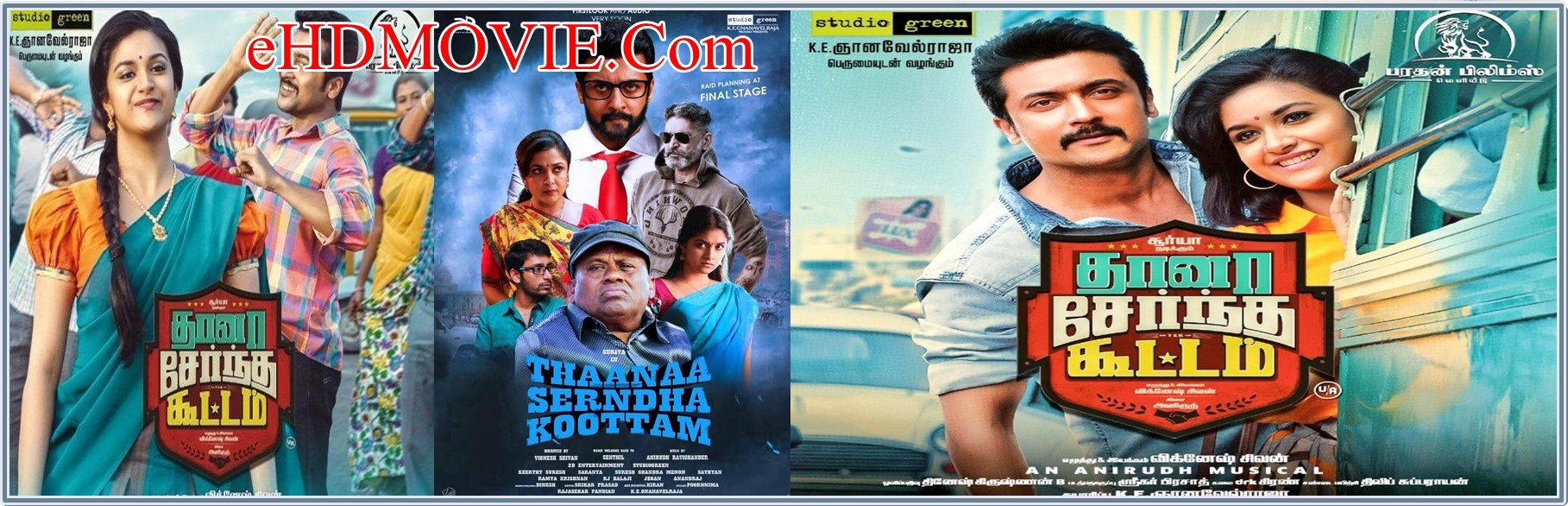 Thaanaa Serndha Koottam 2018 Full Movie Dual Audio [Hindi – Telugu] 720p - HEVC - 480p ORG BRRip 450MB - 650MB - 1.5GB ESubs Free Download