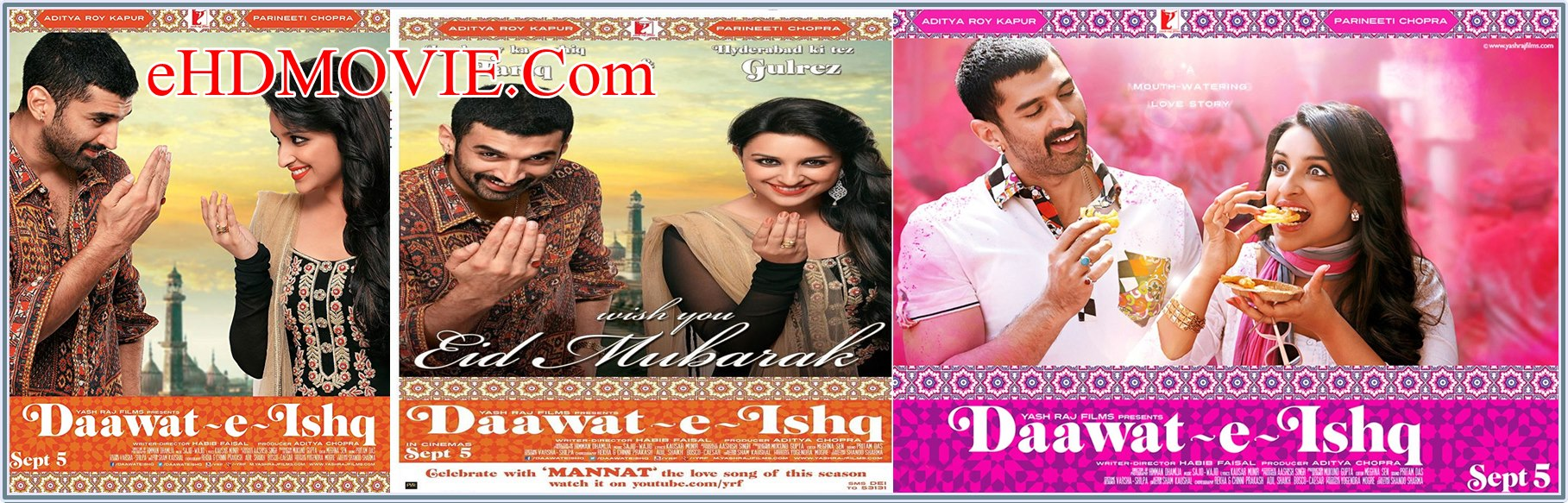 Daawat-e-Ishq 2014 Full Movie Hindi 720p - 480p ORG BRRip 400MB - 1GB ESubs Free Download