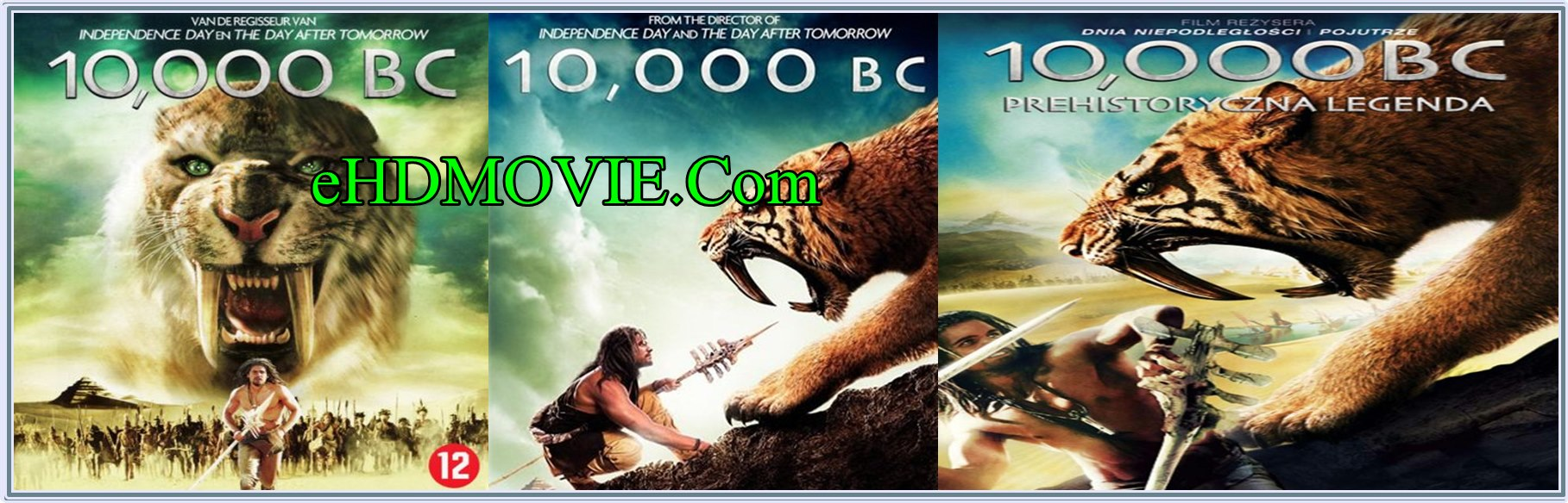 10,000 BC 2008 Full Movie Dual Audio [Hindi – English] 720p - 480p ORG BRRip 350MB - 950MB ESubs Free Download