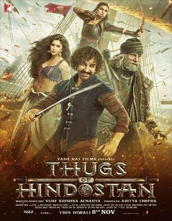 Thugs of Hindostan 2018 Hindi 750MB BluRay 720p ESubs HEVC