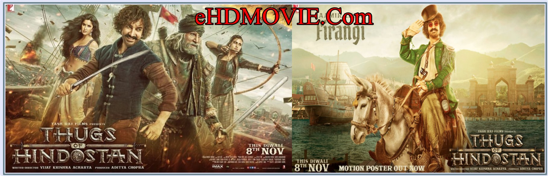 Thugs of Hindostan 2018 Full Movie Hindi 720p - 480p ORG Pre-DvD 400MB - 700MB - 1.3GB ESubs Free Download