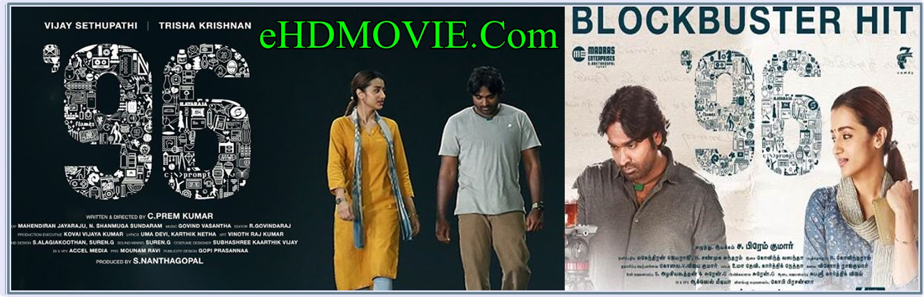 96 2018 Full Movie Tamil 720p - HEVC - 480p ORG HDRip 400MB - 700MB - 1.4GB ESubs Free Download