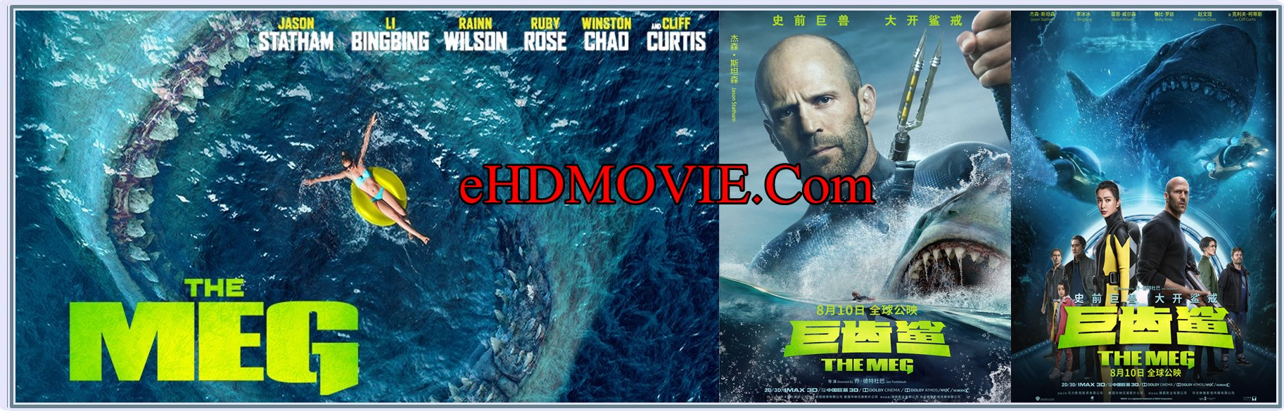 The Meg 2018 Full Movie Dual Audio [Hindi – English] 1080p - HEVC - 720p - 480p ORG BRRip 400MB - 550MB - 1GB - 2GB ESubs Free Download