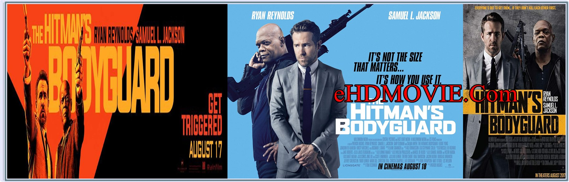 The Hitman's Bodyguard 2017 Full Movie Dual Audio [Hindi – English] 720p - HEVC - 480p ORG BRRip 400MB - 600MB - 1.2GB ESubs Free Download