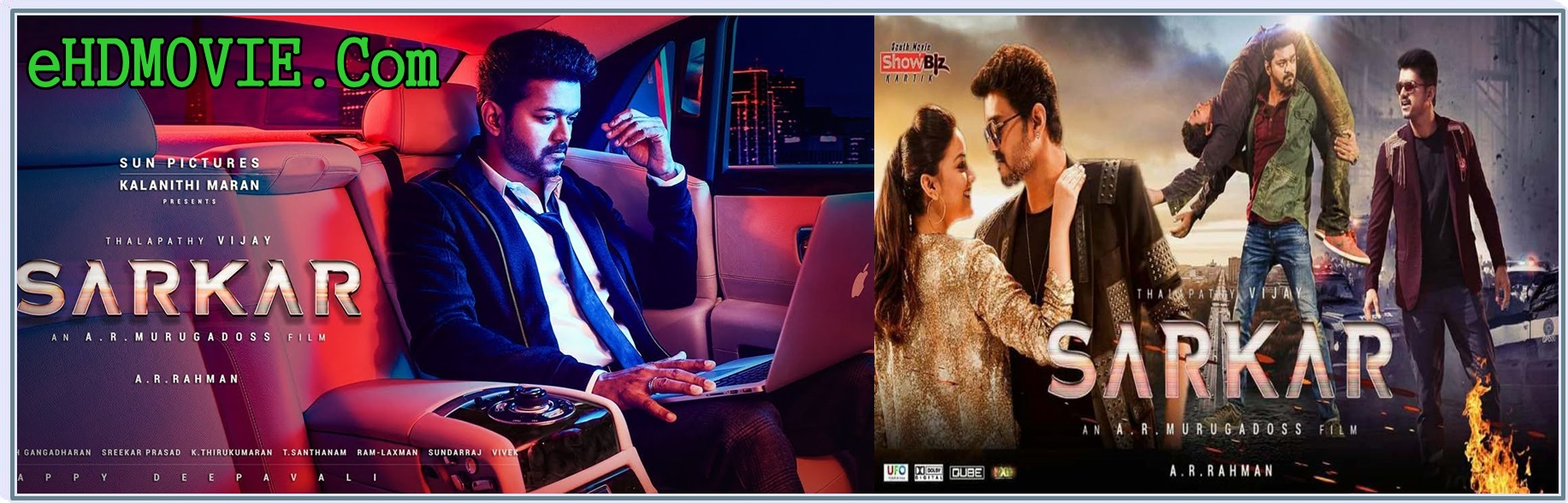 Sarkar 2018 Full Movie Tamil 720p - 480p ORG Pre-DVDRip 400MB - 1.4GB ESubs Free Download