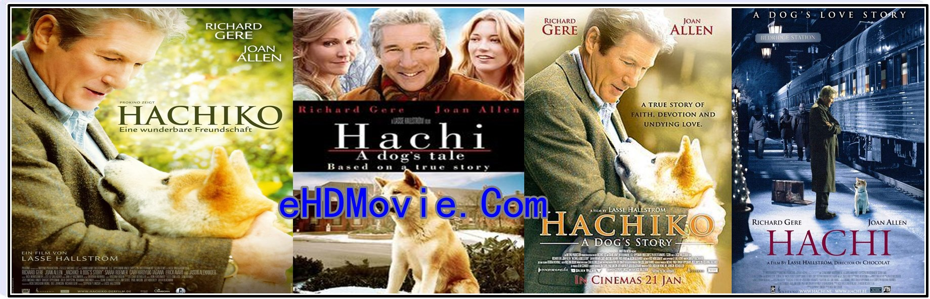 Hachi: A Dog's Tale (2009) Full Movie English 720p - 480p ORG BRRip 350MB - 800MB ESubs Free Download