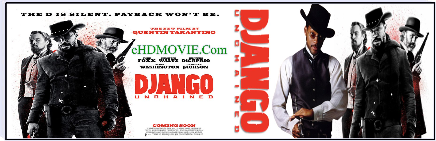 Django Unchained 2012 Full Movie English 720p - 480p ORG BRRip 550MB - 1.5GB ESubs Free Download