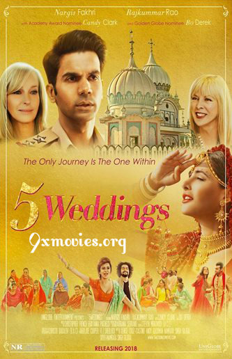 5 Weddings 2018 Dual Audio Hindi 720p HDRip 700mb