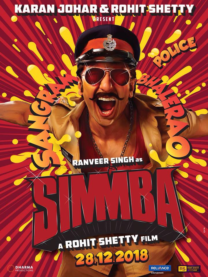 Simmba (2018) Hindi Official Trailer HD Download