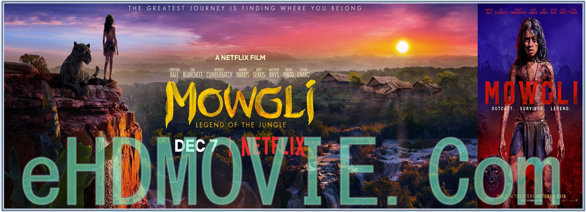 Mowgli Legend of the Jungle 2018 Full Movie Dual Audio [Hindi – English] 1080p - 720p - HEVC - 480p ORG Blu-Ray 350MB - 550MB - 950MB - 2GB ESubs Free Download