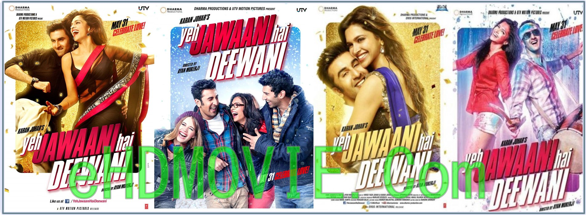 Yeh Jawaani Hai Deewani 2013 Full Movie Hindi 720p - 480p ORG BRRip 450MB - 1.2GB ESubs Free Download