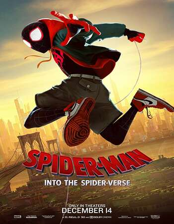 Spider Man Into the Spider Verse 2018 Hindi Dual Audio 600MB Web-DL 720p ESubs HEVC