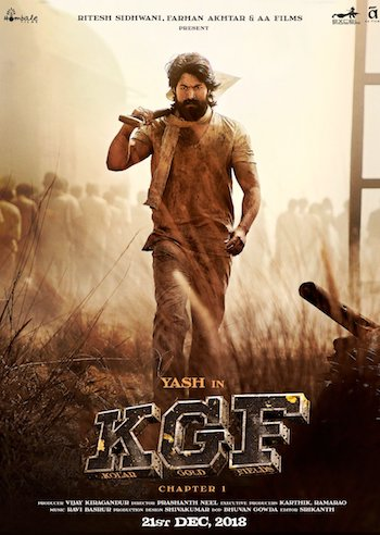 KGF 2018 Hindi Dubbed pDVDRip 720p 480p x264 Download