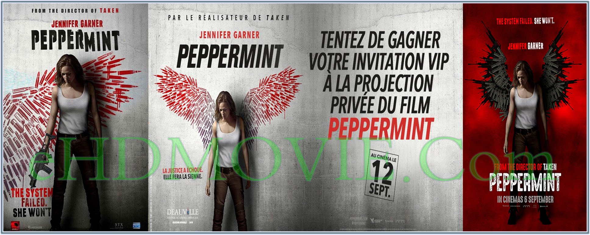 Peppermint 2018 Full Movie English 720p - 480p ORG BRRip 400MB - 450MB - 800MB ESubs Free Download