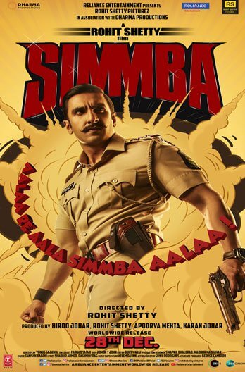 Simmba (2018) Hindi 720p Pre Rip x264 1.GB