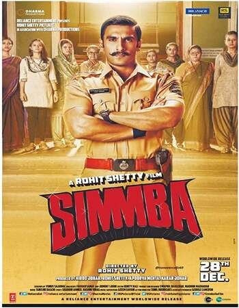 Simmba 2018 Hindi 720p HDRip ESubs