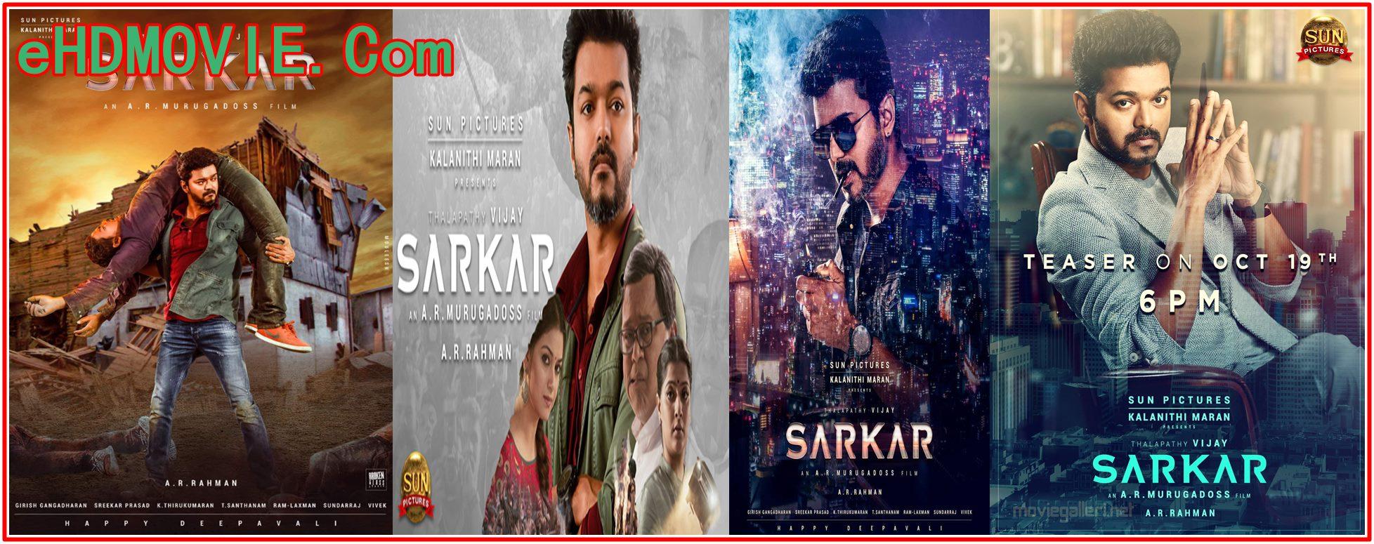 Sarkar 2018 Full Movie Tamil 720p – 480p ORG HD-Rip 400MB – 1.4GB ESubs Free Download