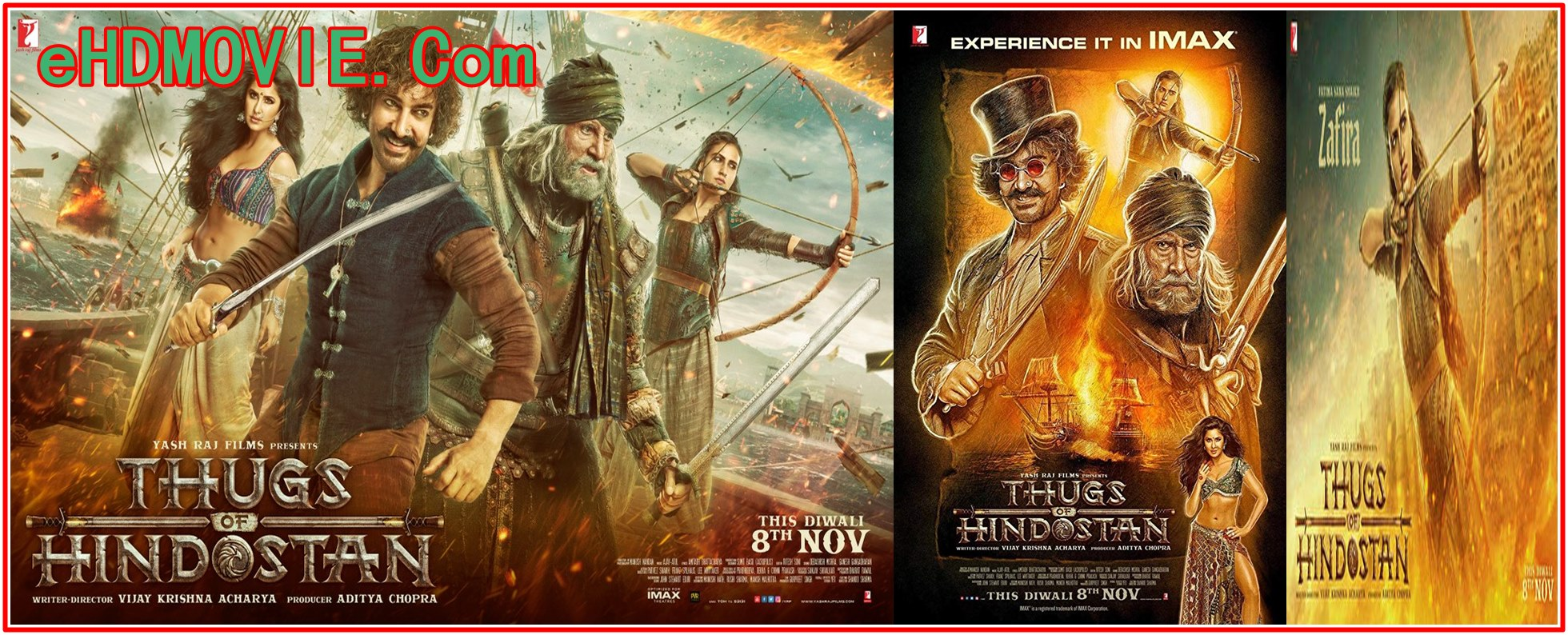 Thugs of Hindostan 2018 Full Movie Hindi 1080p – 720p – HEVC – 480p ORG WEB-DL 450MB – 750MB – 1.6GB – 2.7GB ESubs Free Download