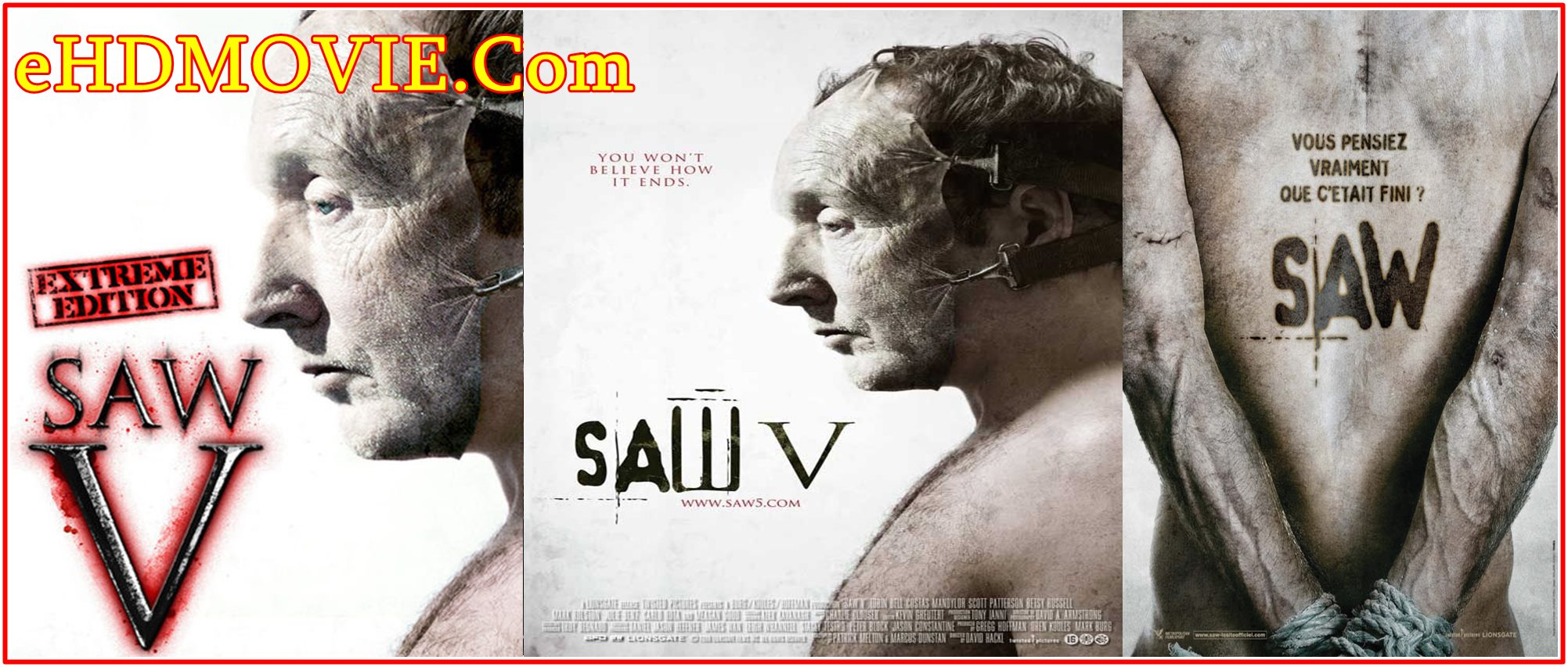 Saw V 2008 Full Movie English 720p – 480p ORG BRRip 350MB – 750MB ESubs Free Download