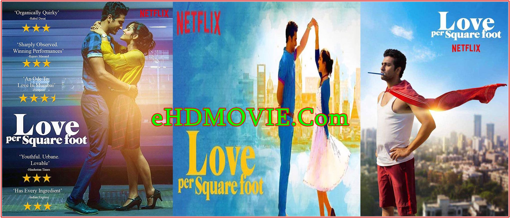 Love Per Square Foot 2018 Full Movie Hindi 720p – 480p ORG BRRip 350MB – 1.3GB ESubs Free Download
