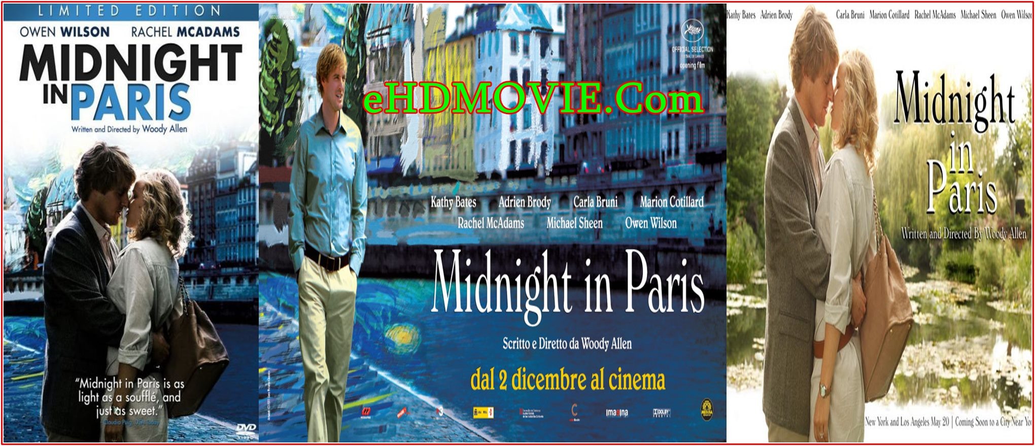 Midnight in Paris 2011 Full Movie English 720p – 480p ORG BRRip 350MB – 750MB ESubs Free Download