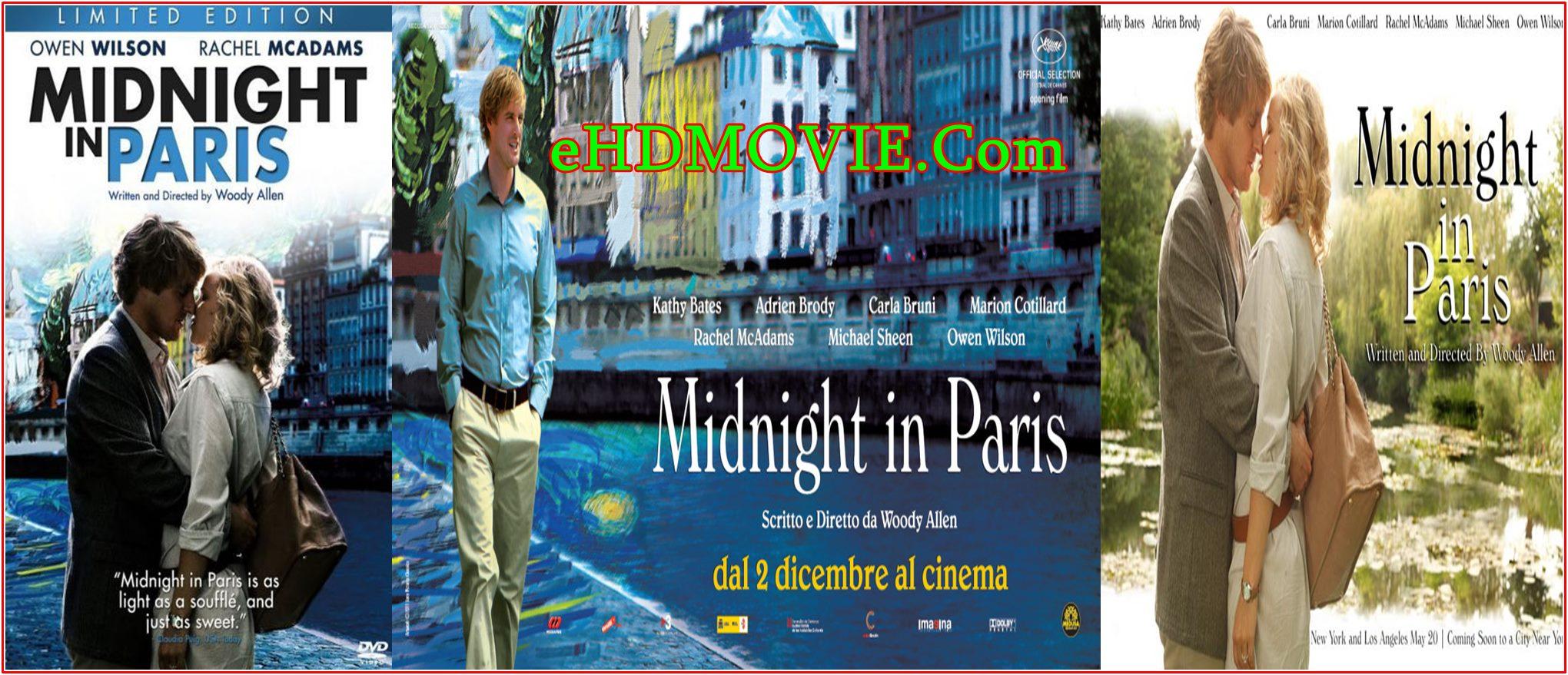 Midnight in Paris 2011 Full Movie English 720p – 480p ORG BRRip 350MB – 750MB ESubs Free Download