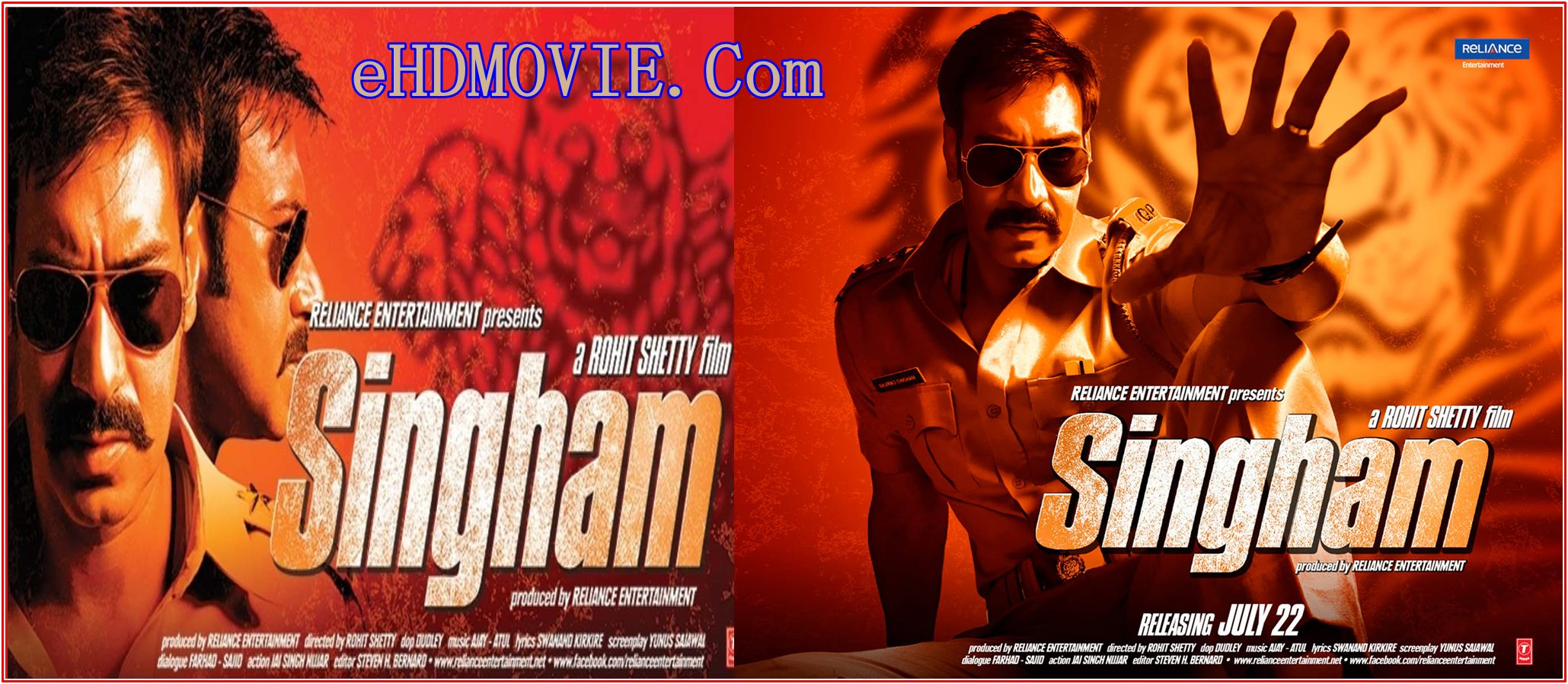 Singham 2011 Full Movie Hindi 720p – 480p ORG BRRip 500MB – 1GB ESubs Free Download