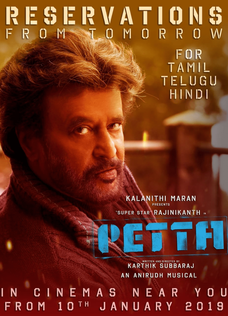 Petta 2019 Hindi 700MB HQ PreDVDRip x264