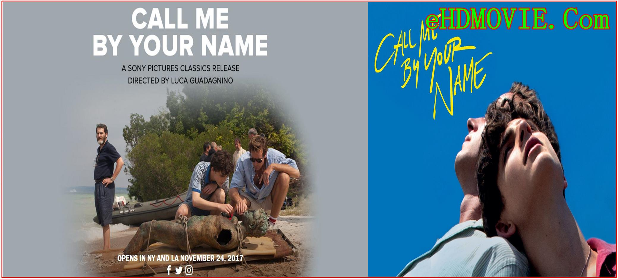 Call Me by Your Name 2017 Full Movie English 720p – 480p ORG BRRip 500MB – 1GB ESubs Free Download