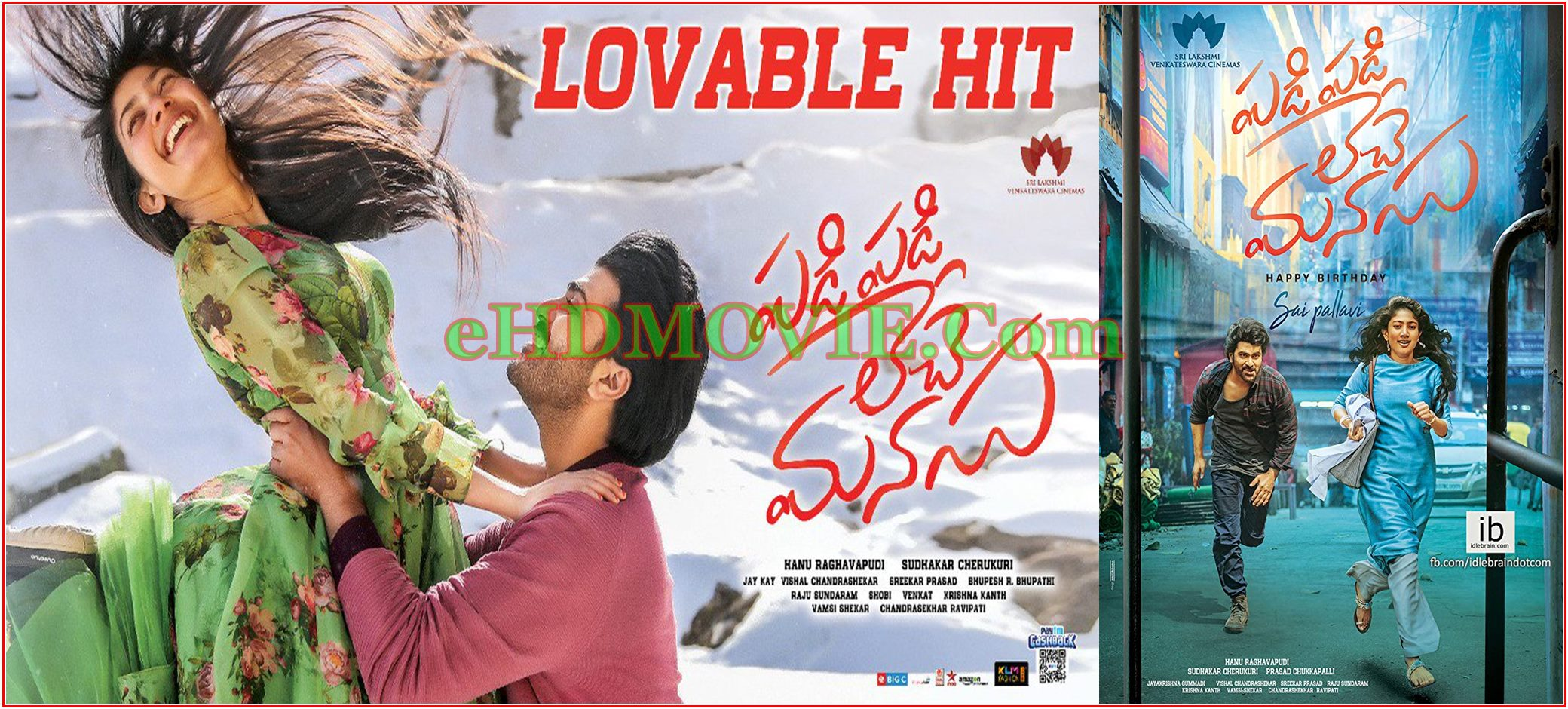 Padi Padi Leche Manasu 2018 Full Movie Telugu 720p – 480p ORG HDRip 400MB – 1.4GB ESubs Free Download