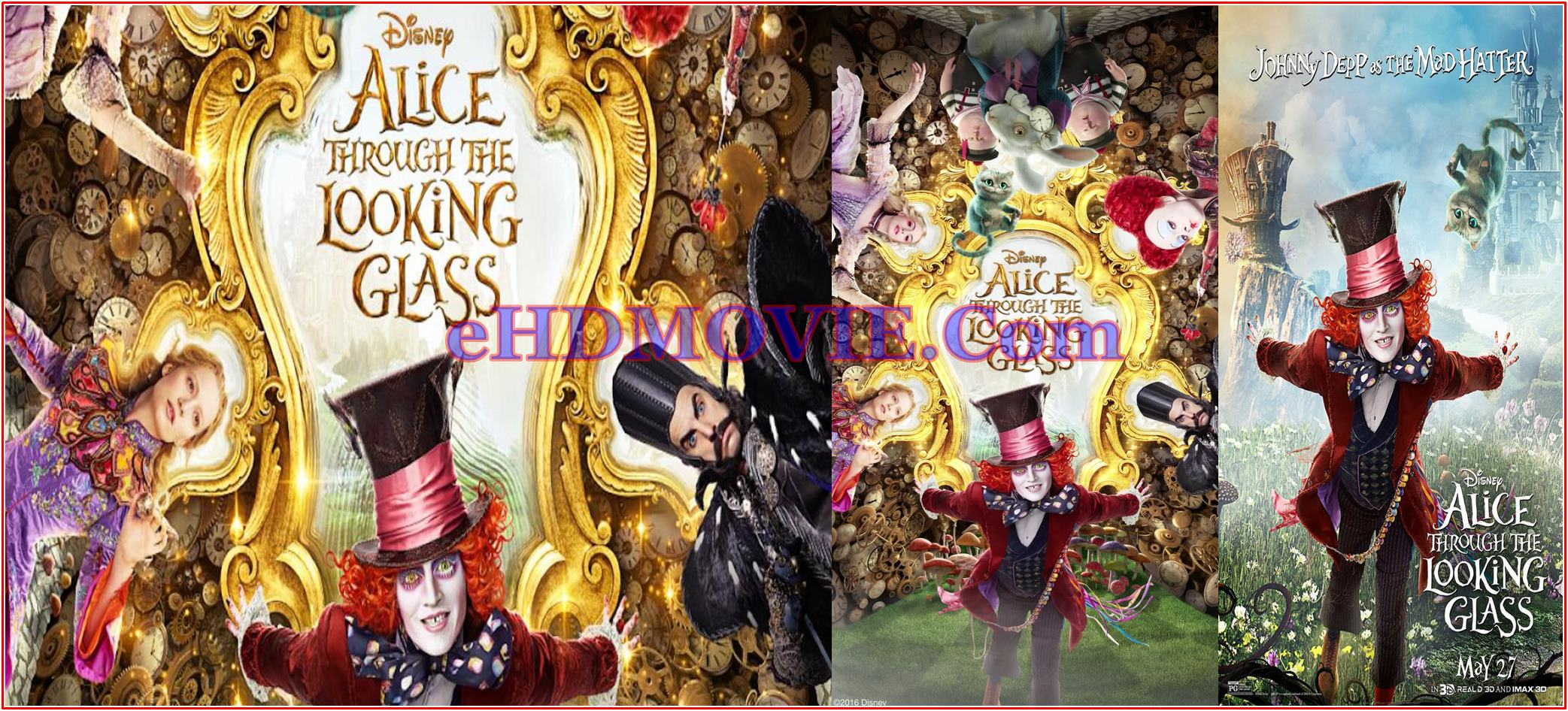 Alice Through the Looking Glass 2016 Full Movie English 720p – 480p ORG BRRip 500MB – 1.2GB ESubs Free Download