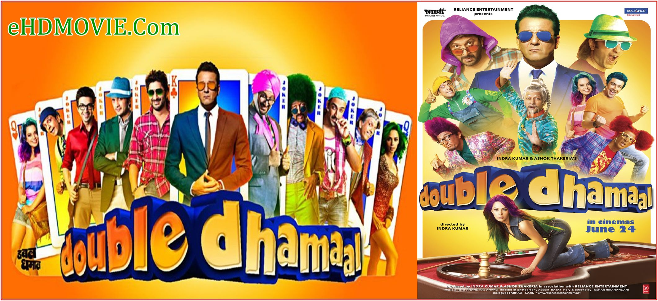 Double Dhamaal 2011 Full Movie Hindi 720p – 480p ORG BRRip 400MB – 1.5GB ESubs Free Download