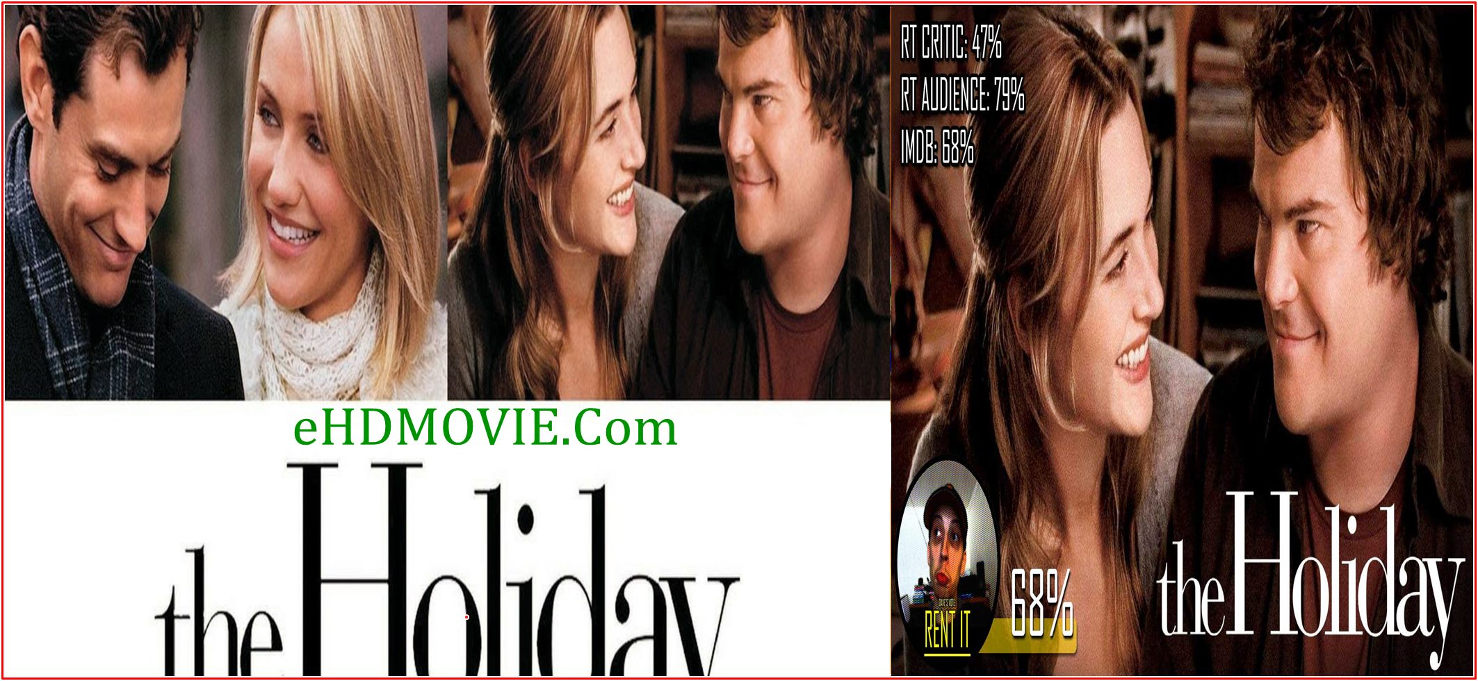 The Holiday 2006 Full Movie English 720p – 480p ORG BRRip 450MB – 950MB ESubs Free Download