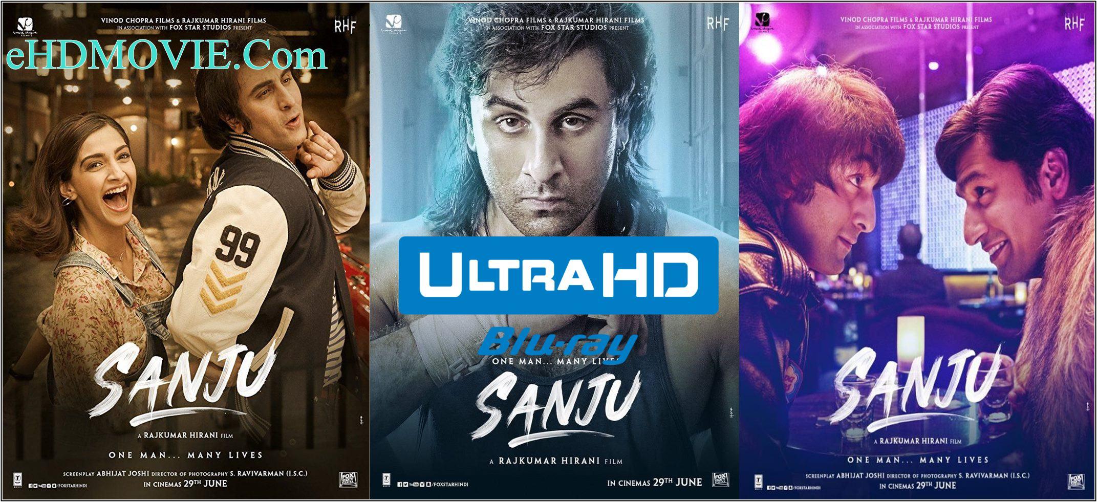 Sanju 2018 Full Movie Hindi 720p – 480p ORG BRRip 450MB – 1.2GB ESubs Free Download