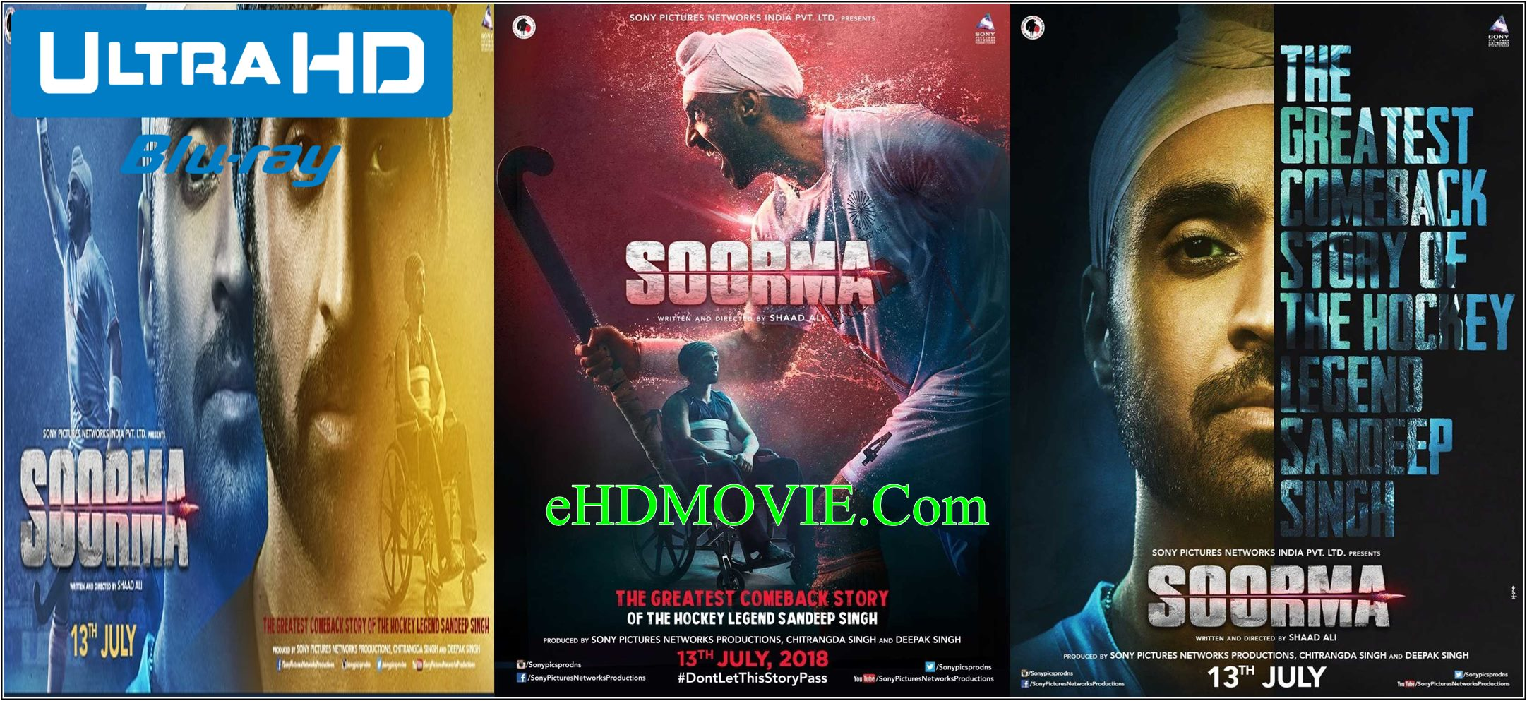 Soorma 2018 Full Movie Hindi 720p – 480p ORG BRRip 350MB – 1.1GB ESubs Free Download